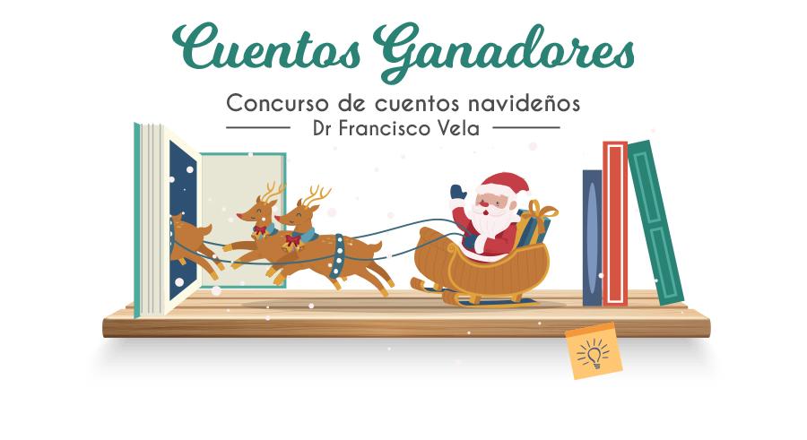 Ganadores del concurso de cuentos navideños Dr. Francisco Vela - 2019