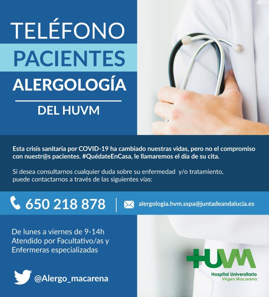 Alergología HUVM - Vías de Atención al Paciente