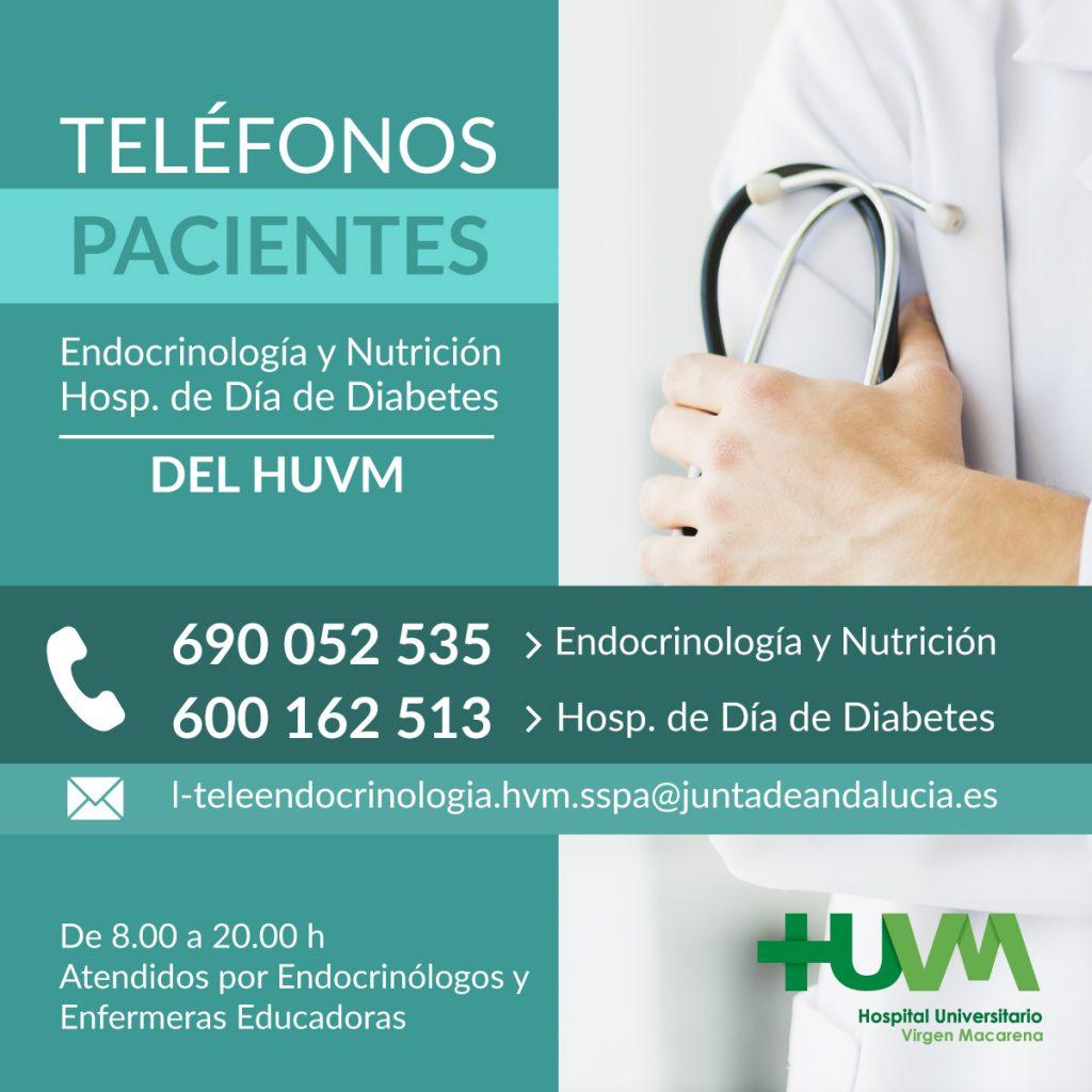 Teléfonos Pacientes Endocrinología y Nutrición Hospital Macarena
