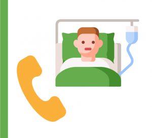 Información telefónica a familiares de pacientes-COVID-19