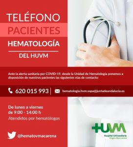 Hematología HUVM - Vías de Atención al Paciente